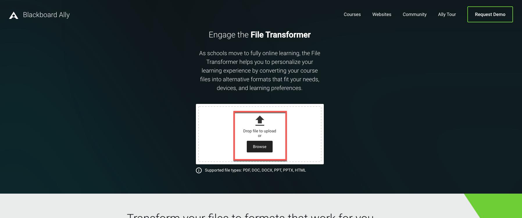 Blackboard Ally File Converter