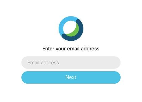 CCCS Webex Enter Email Address Box