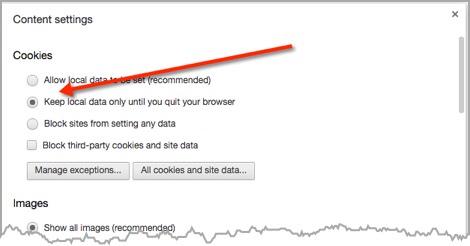 screenshot of chrome content settings