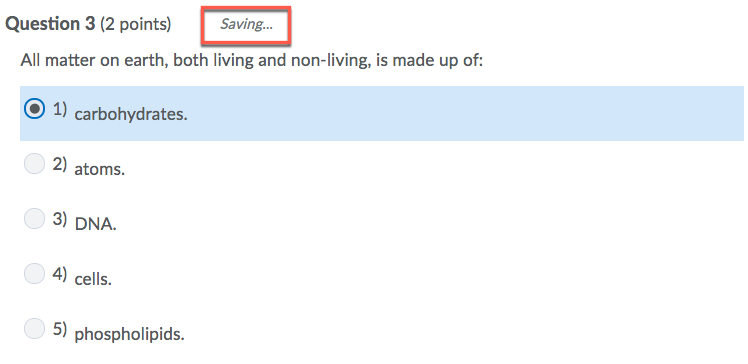 D2L Saving Quiz Answer
