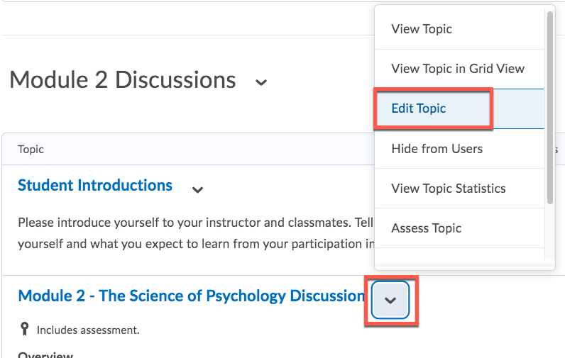 D2L Edit Discussion
