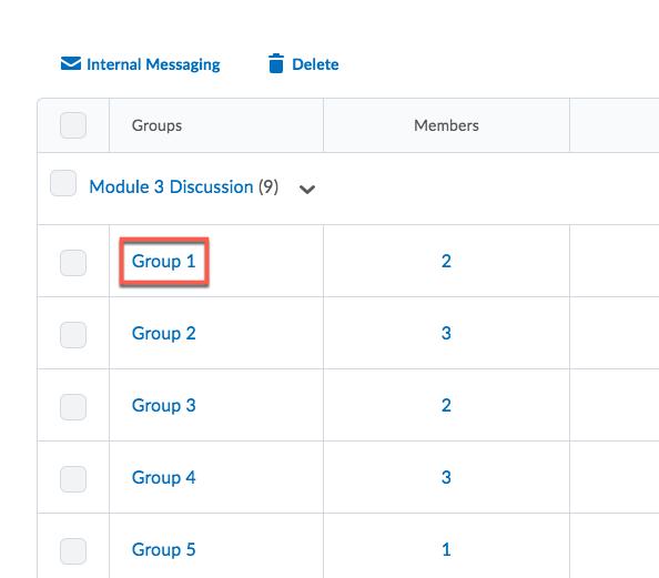 D2L Groups