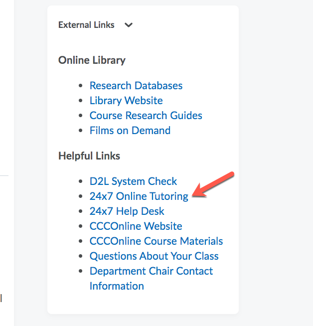 D2L TutorMe Button