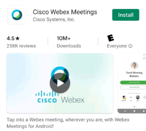 Download webex