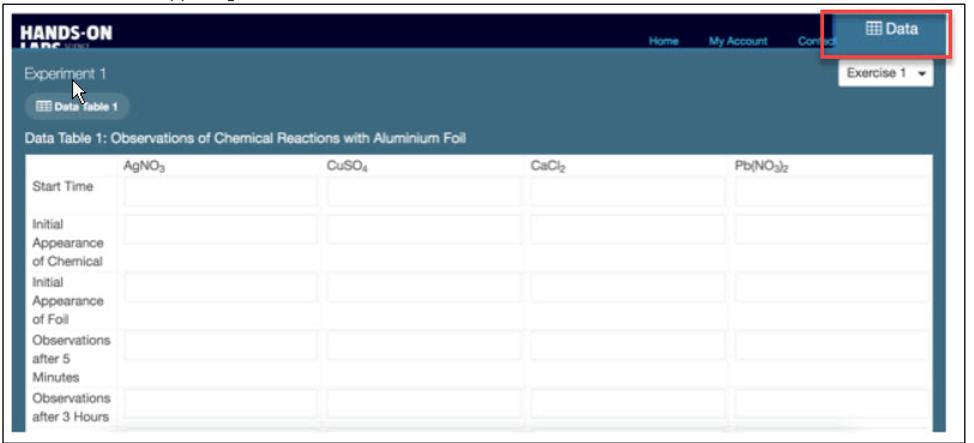 HOL non report lesson Data tab