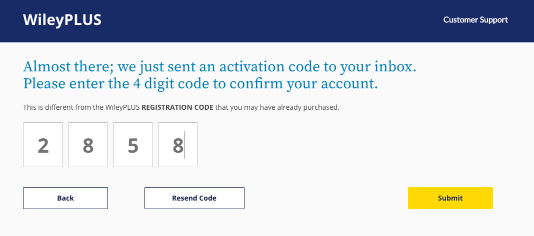 Wiley enter activation code