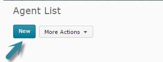 Agent List New button