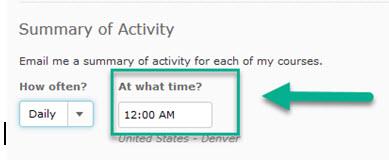 Summary of Notification Activity-Daily