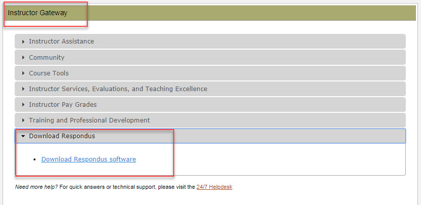 Instructor Gateway Widget