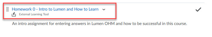 Lumen OHM External Learning Tool link example