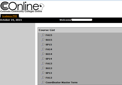 MLP Course List window