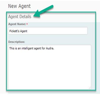 New Agent Window