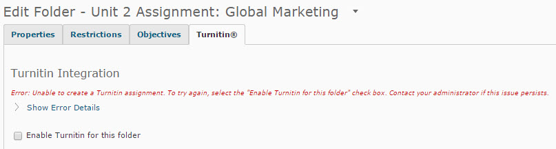 Turnitin Error