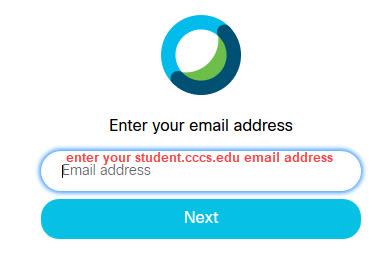 Webex email address