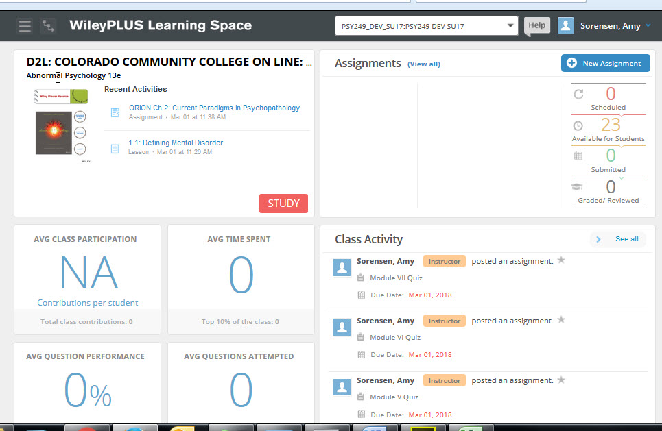 WP Learning Space Homepage